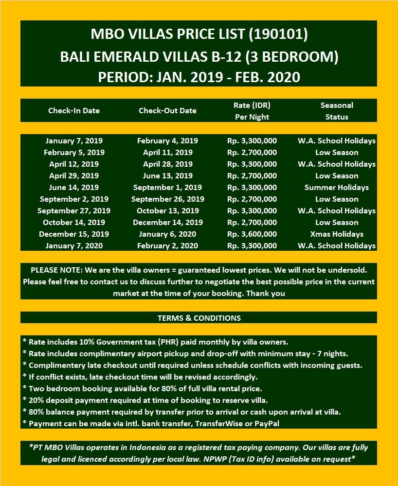 Emerald Villa B-12 (3-BR) |